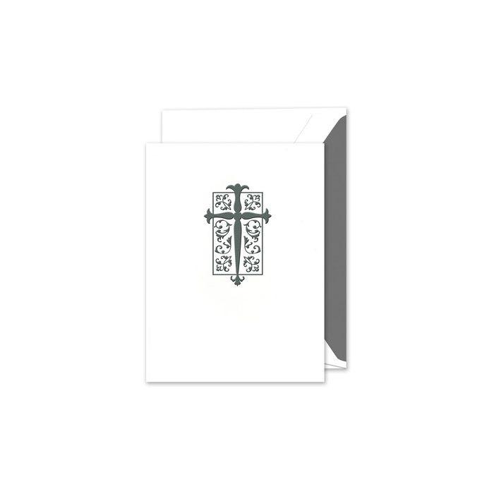 White Motif Folded Card