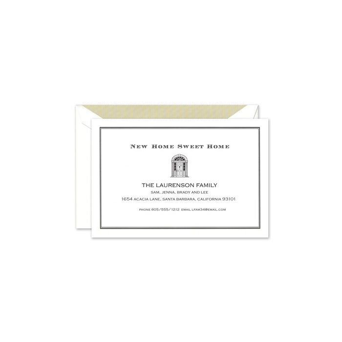 Gold Doorway Address Card