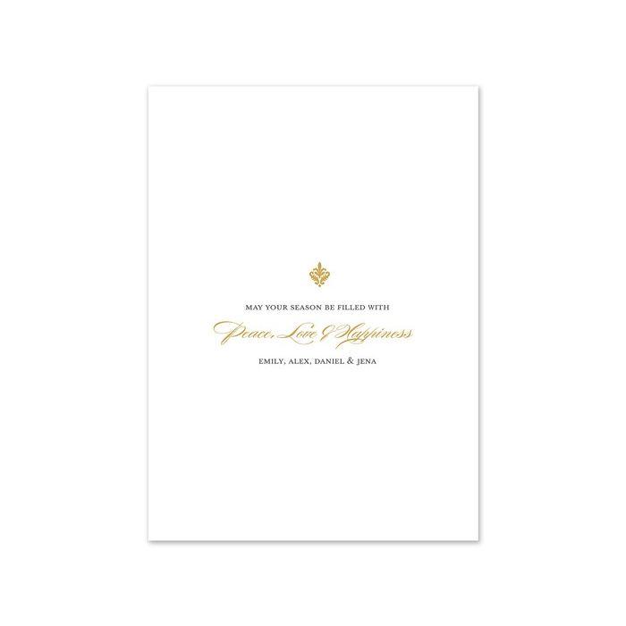 Formal Script Photo Card