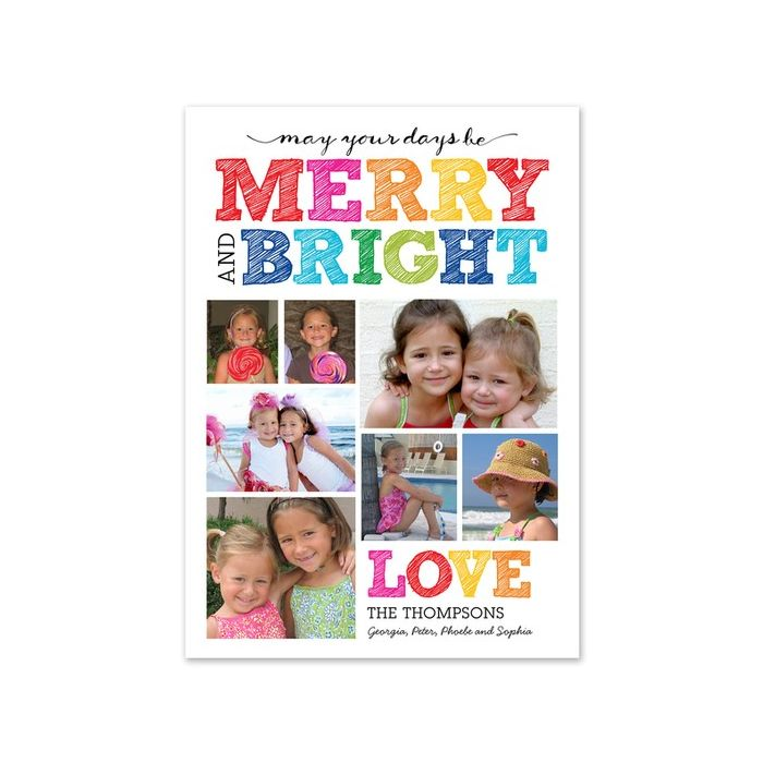Bright Scribbles Photo Card