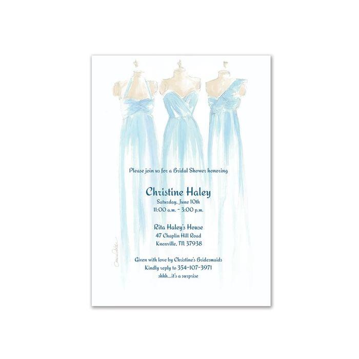Blue Bridesmaid Invitation