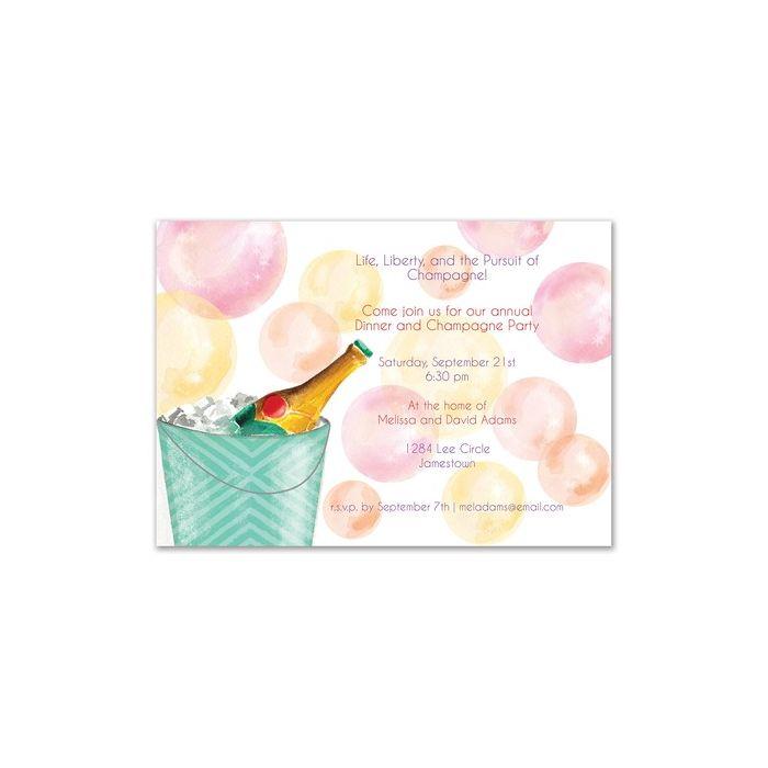 Champagne Bubbles Invitation