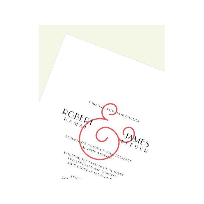 Red Ampersand Invitation