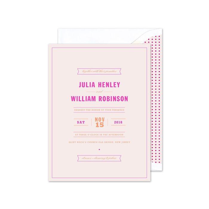 Pink Banner Invitation