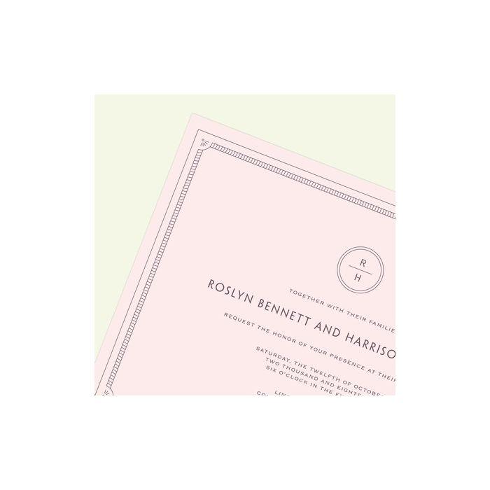 Pink Frame Invitation