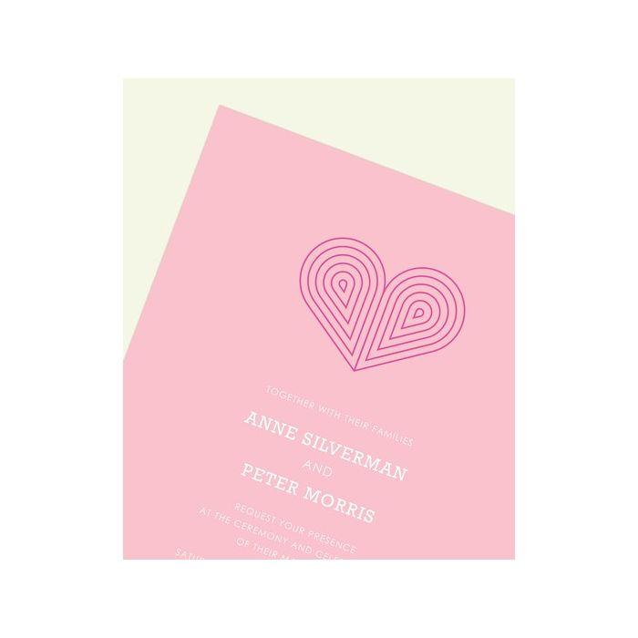 Pink Deco Heart Invitation