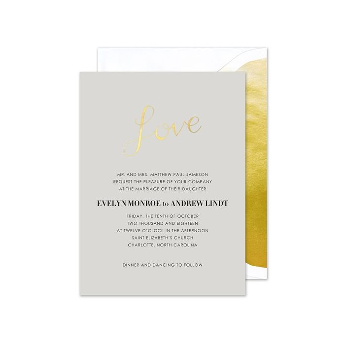 Love on Gray Invitation