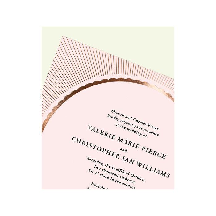 Radiant Pink Invitation