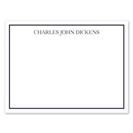 White & Marine Flat Card