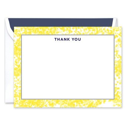 Dotted Border Flat Card