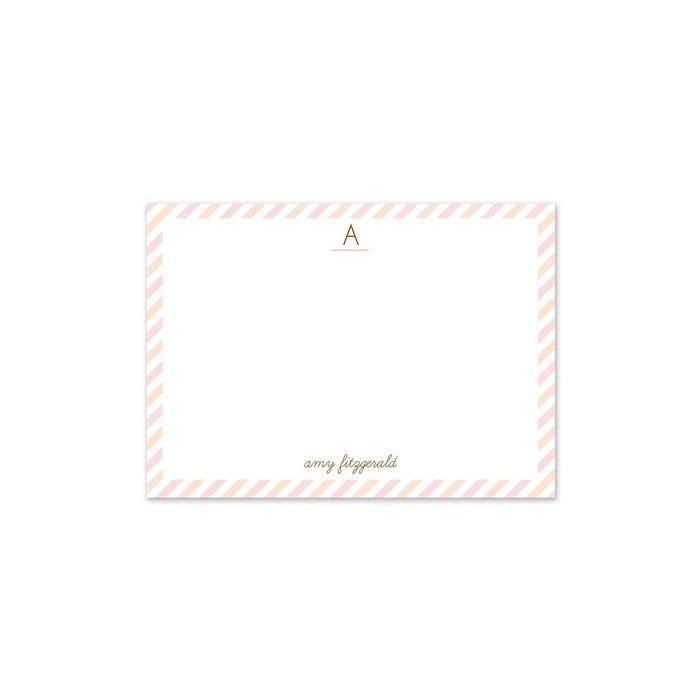 Pink Stripe Flat Card