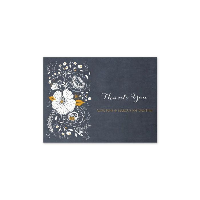 Chalkboard Floral Note Card