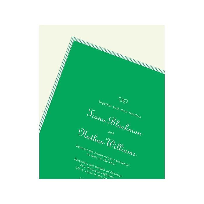 Green Stripe Invitation