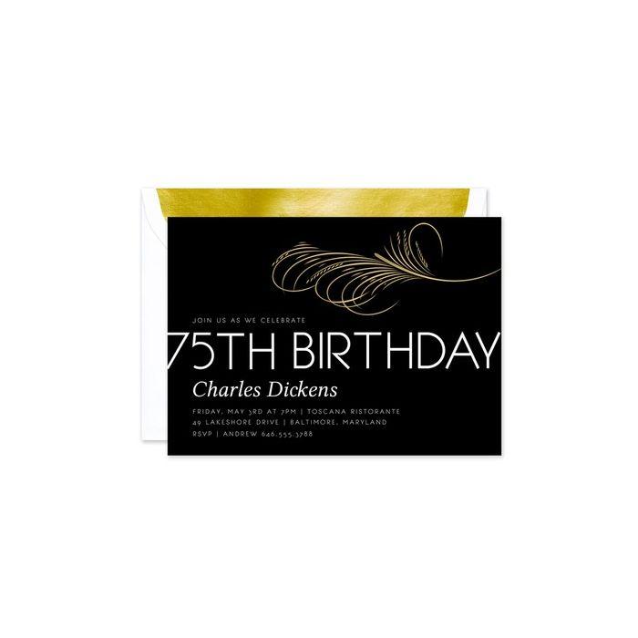 Classic 75th Invitation