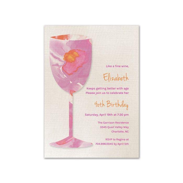 Watercolor Glass Invitation
