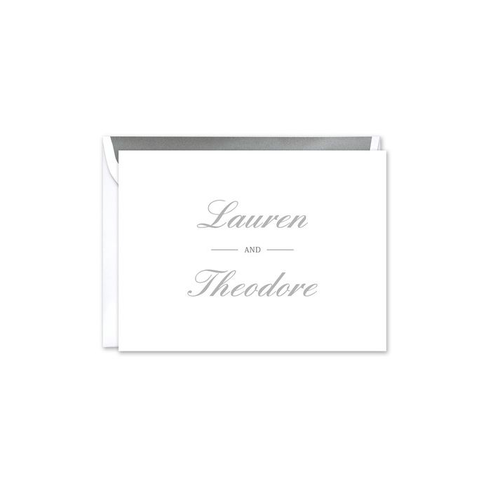 Classic Couples White Note Card