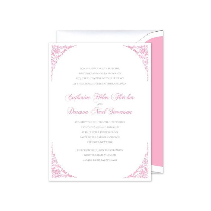 Corner Scroll Invitation