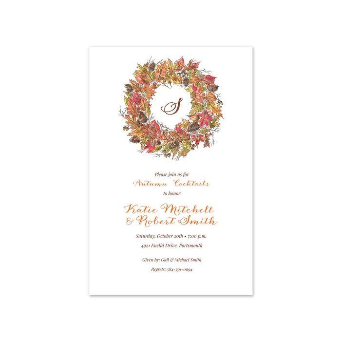 Rustic Wreath Invitation