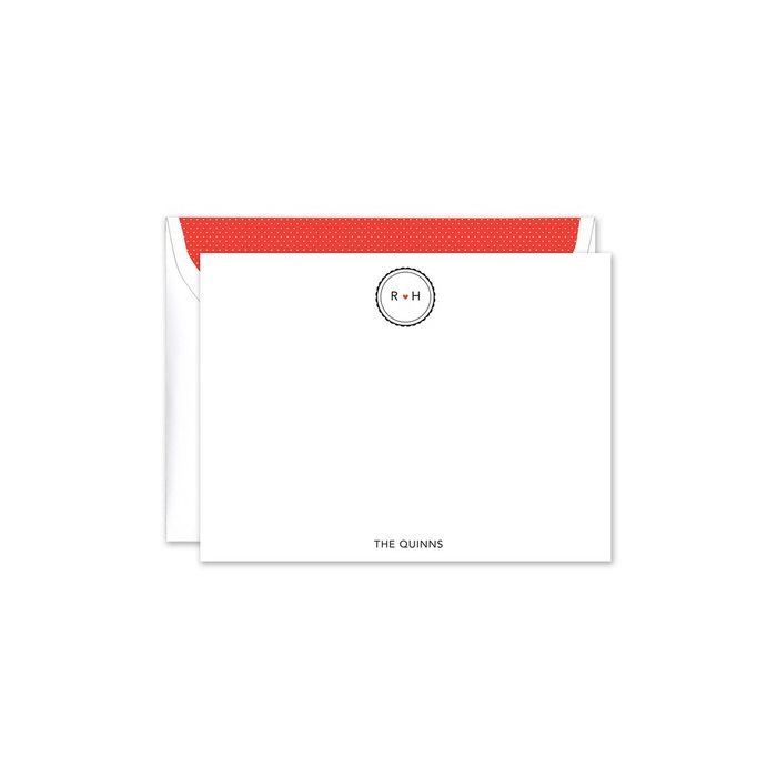 Scalloped Heart Flat Card