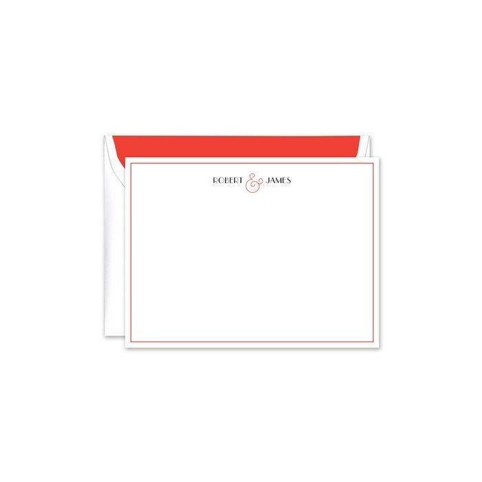 Red Ampersand Flat Card
