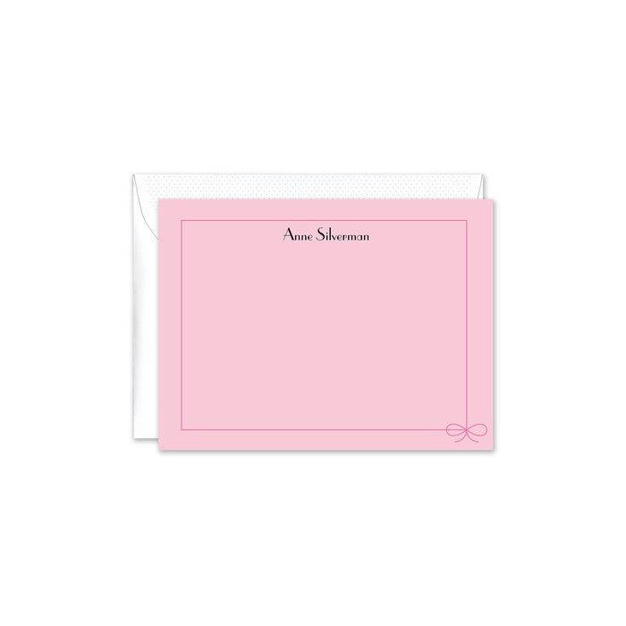 Wrapped in Pink Flat Card