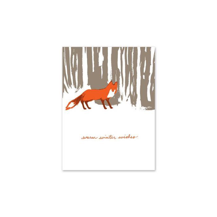 Snowy Fox Greeting Card