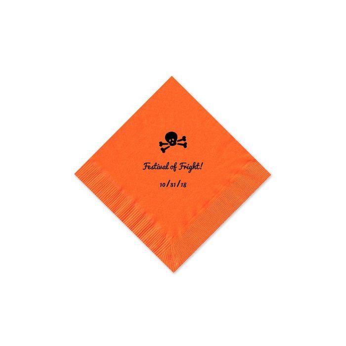 Orange Beverage Napkin