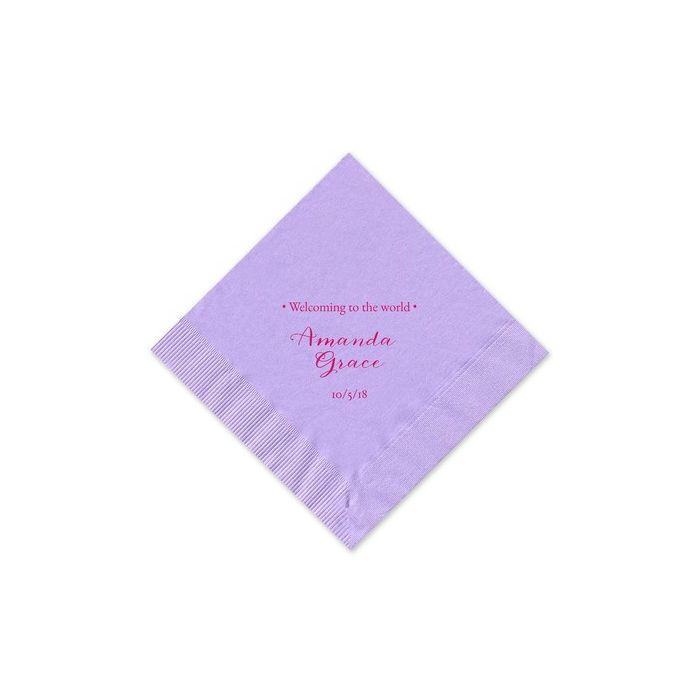 Lavender Beverage Napkin