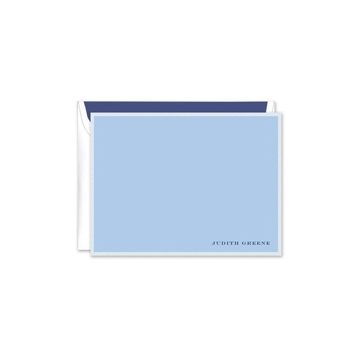 Blue & White Flat Card