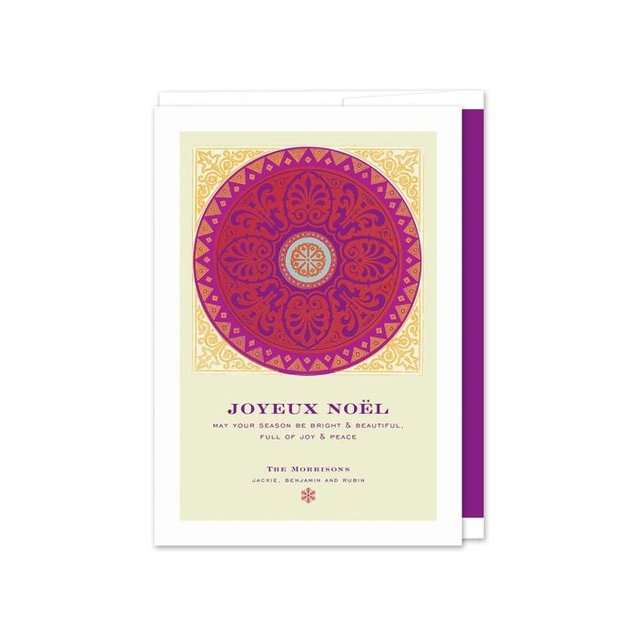 Plum Medallion Greeting Card