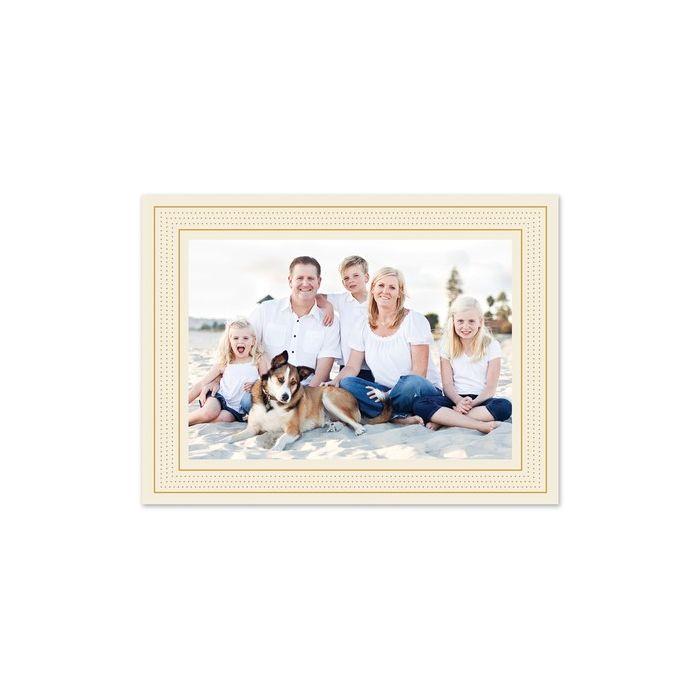 Cream Marquee Photo Card