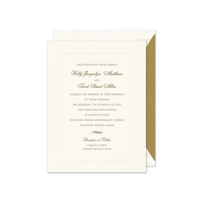 Swiss Dot Warm White Invitation
