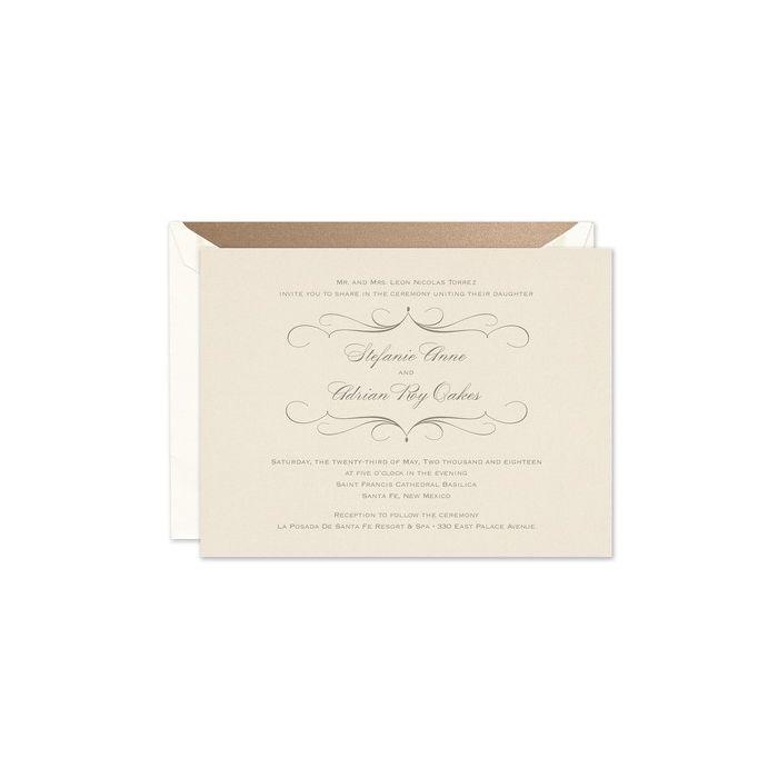 Pearlized Invitation