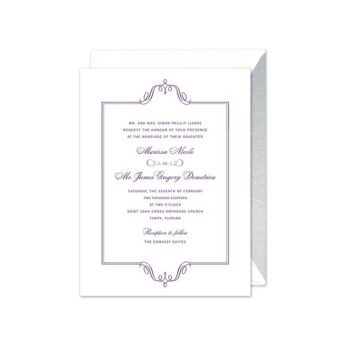 Regal Frame Invitation
