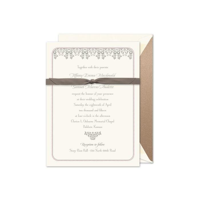 Wedding Damask Invitation