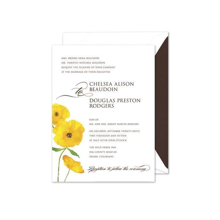 Sunny Floral Invitation