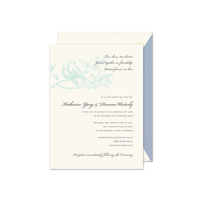 Pair of Doves Invitation