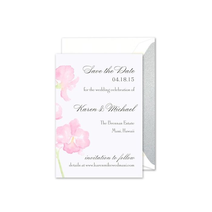 Watercolor Orchid Card