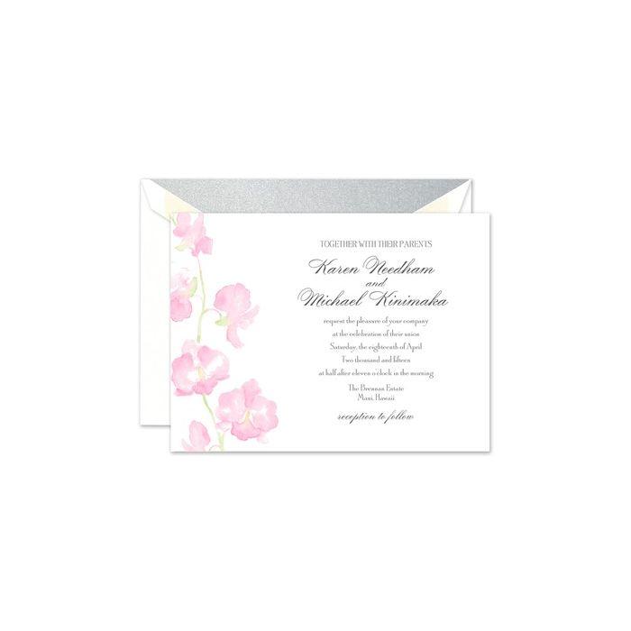 Watercolor Orchid Invitation