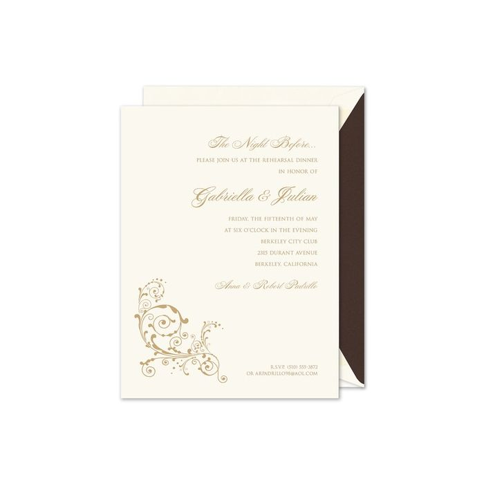 Scroll Flourish Invitation