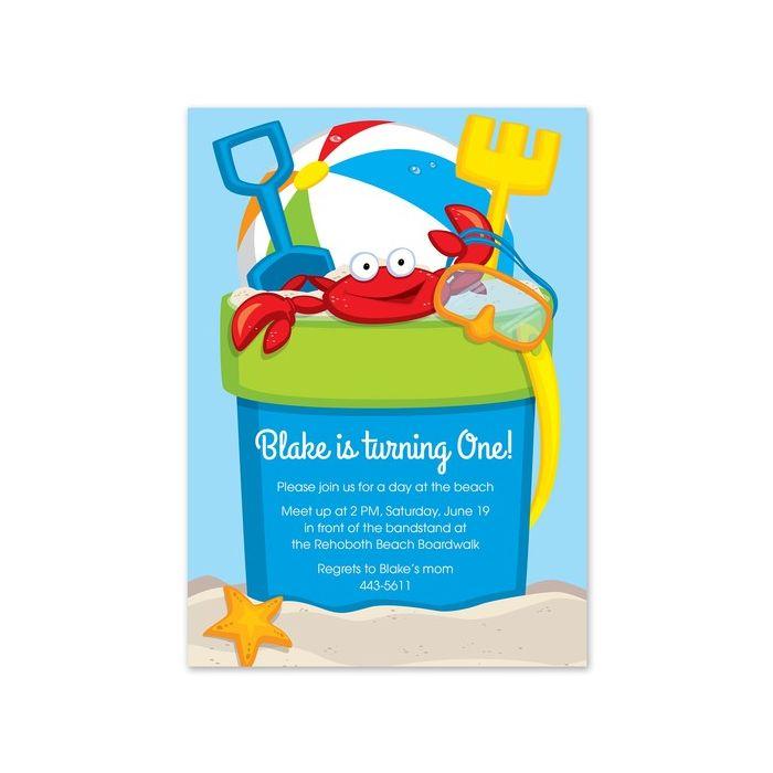Beach Bucket Invitation