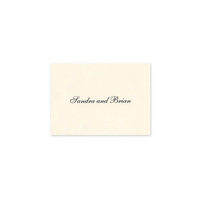 Ornate Ecru Note Card