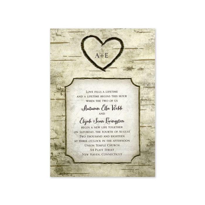 Heart Carving Invitation