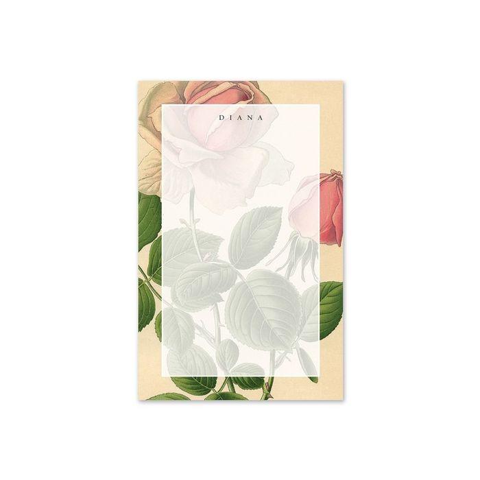 Rose Note Pad