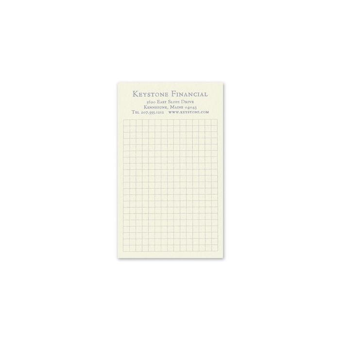 Grid Jotter Card