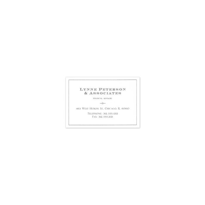Marlow White Business Card