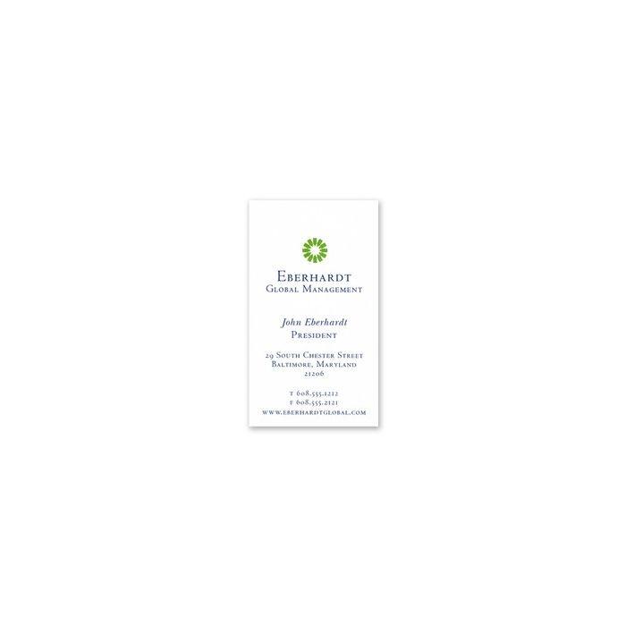 Corona White Business Card