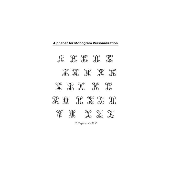 Scripted Vine Monogram Stamp