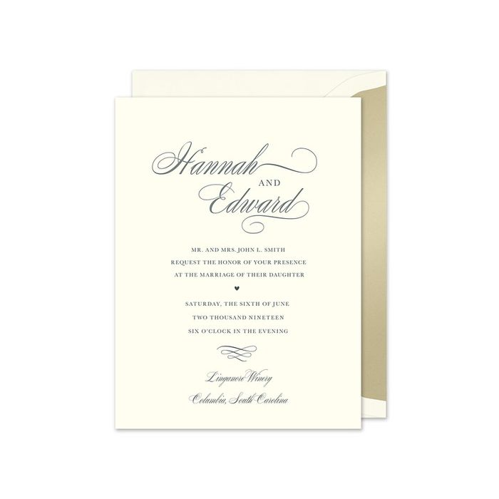Splendid Ecru Invitation