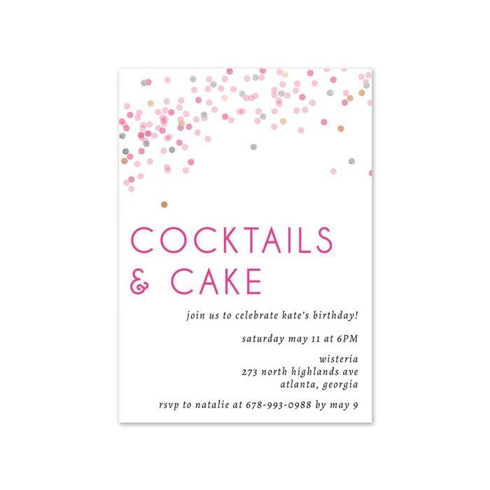 Confetti Cocktail Invitation